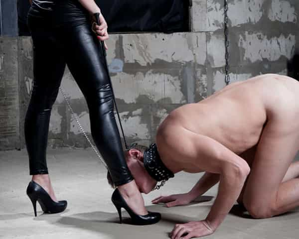 Kneel before your Mistress and receive some foot Domination
